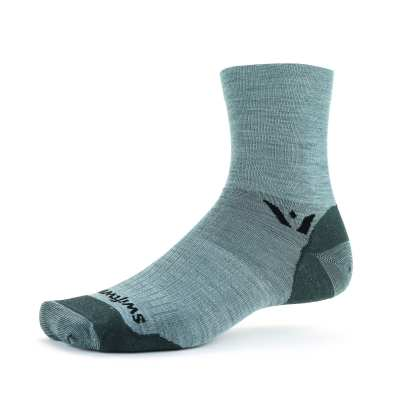 Swiftwick Pursuit Four Ultralight Heather Gray Sock