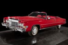"CHUCK BERRY'S CADILLAC - c. 1973 ""The Father of Rock & Roll"" included this vehicle in his personal fleet of Cadillacs. Driven during the filming of the 1987 documentary Hail! (Credit: All Artifacts from the collection of the Smithsonian National Museum of African American History and Culture / Gift of Chuck Berry)"