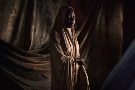 Maimuna, 16, has a 6-month-old son whose father is a Boko Haram fighter.