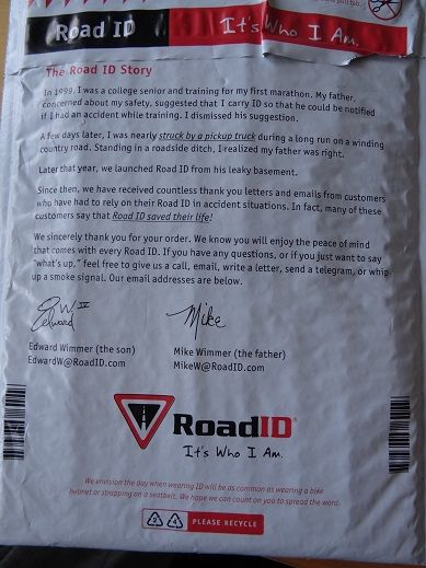 Road ID review