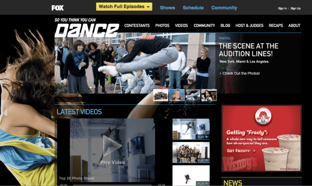 SYTYCD Home Page