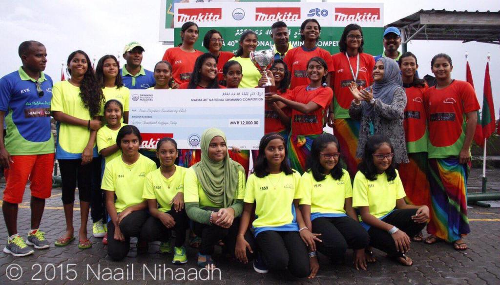 Womens Champion Team 40th National Swimming Competition 2015