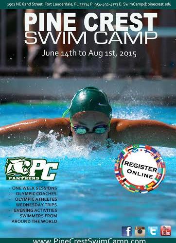 Pine Crest Swim Camp 2015
