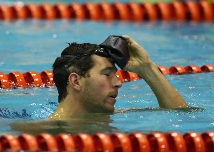 DURBAN, SOUTH AFRICA - APRIL 15: Brad Tandy during the finals session 50m freestyle semi final on day 6 of the SA National Aquatic Championships and Olympic Trials on April 15 , 2016 at the Kings Park Aquatic Center pool in Durban, South Africa. Photo Credit / Anesh Debiky/Swim SA
