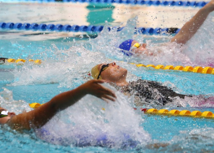 DURBAN, SOUTH AFRICA - APRIL 13:Karin Prinsloo during the heats session 200m backstroke on day 6 of the SA National Aquatic Championships and Olympic Trials on April 13 , 2016 at the Kings Park Aquatic Center pool in Durban, South Africa. Photo Credit / Anesh Debiky/Swim SA