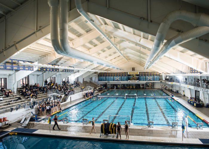 3/4/17 The University of Michigan water polo team defeats UC Davis, 13-7, at Canham Natatorium in Ann Arbor, MI.