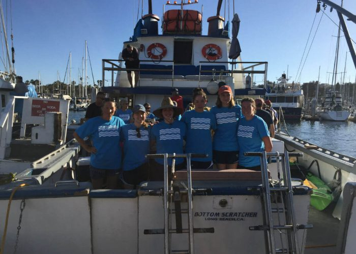 seven-sisters-college-women-catalina-double-crossing-boat