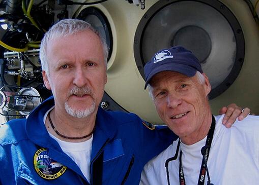 James Cameron and Joe MacInnis ISHOF Honoree