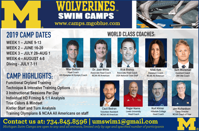 2019 Michigan Swim Camp