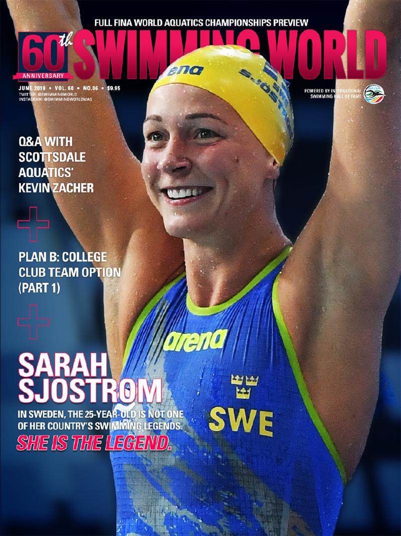 Swimming June 2019 Cover Sarah Sjostrom