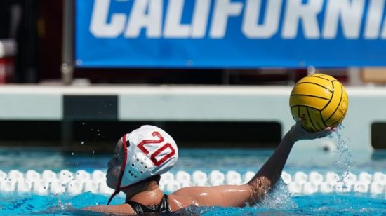 May 12, 2019; Avery Aquatic Center, Palo Alto, CA, USA; Collegiate Women's Water Polo: NCAA Championship Game: USC Trojans vs Stanford Cardinals; Stanford Cardinal Driver Ryann Neushul Photo credit: Catharyn Hayne