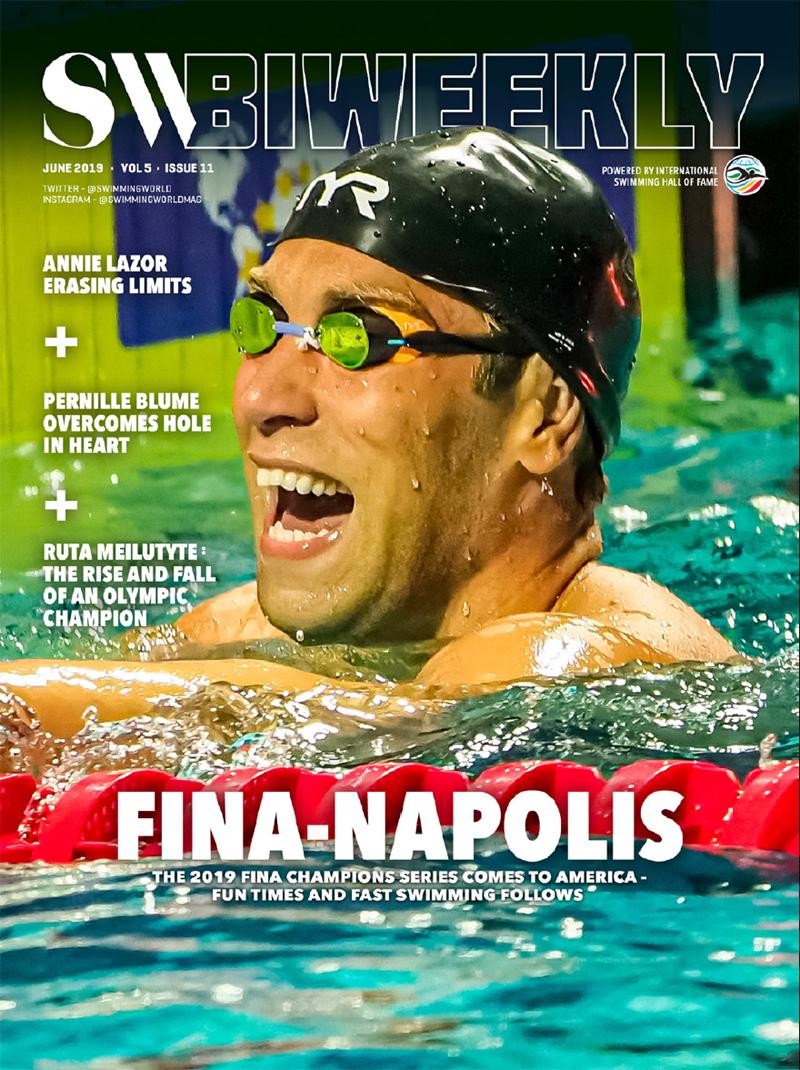 Swimming World Biweekly 6-7-19 COVER