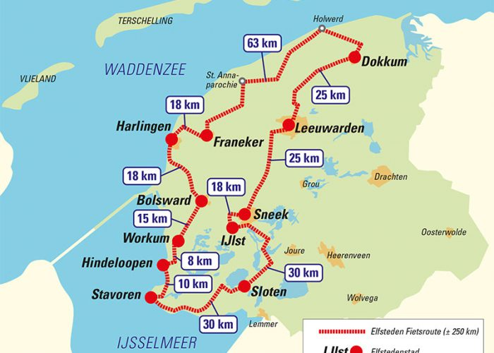 map of elfstedentocht