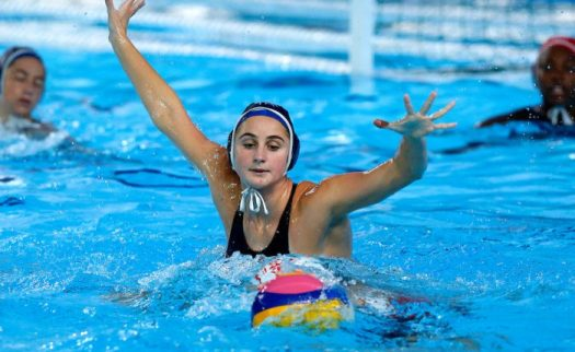 Lima, Saturday August 10, 2019 - USA 's Madeline Musselman reacts during the Women's Final Water Polo match against the USA at the Complejo Deportivo Villa Maria del Triunfo at the Pan American Games Lima 2019. Enrique Cuneo / Lima 2019 Mandatory credits: Lima 2019 ** NO SALES ** NO ARCHIVES **