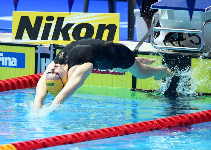 Minna Atherton AUS, 100m Backstroke Final, 18th FINA World Swimming Championships 2019, 23 July 2019, Gwangju South Korea. Pic by Delly Carr/Swimming Australia. Pic credit requested and mandatory for free editorial usage. THANK YOU.