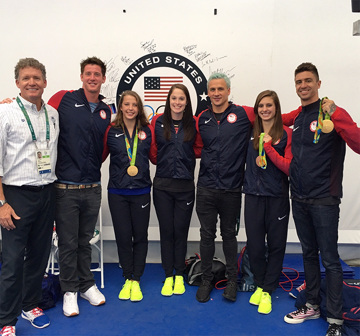 Dave Marsh with members of Team USA