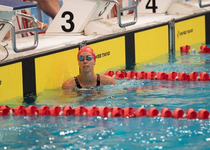 Emma McKeon in lane 2