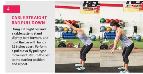 exercise four - cable straight bar pulldown
