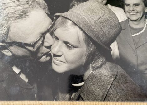 Com Games kiss for Karen Moras 1970