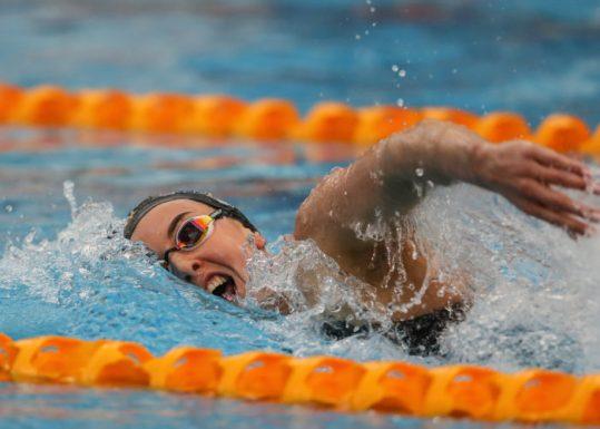 Carina Doyle, 400m Freestyle. AON Swimming New Zealand National Open Swimming Championships, National Aquatic Centre, Auckland, New Zealand, Wednesday 4 July 2018. Photo: Simon Watts/www.bwmedia.co.nz