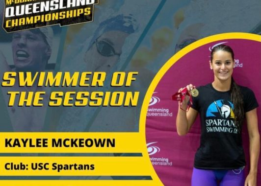KAYLEE M<CKEOWN SWIMMER OF SESSION