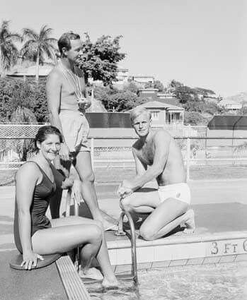 Dawn Fraser Harry Gallagher nd Jon Henricks