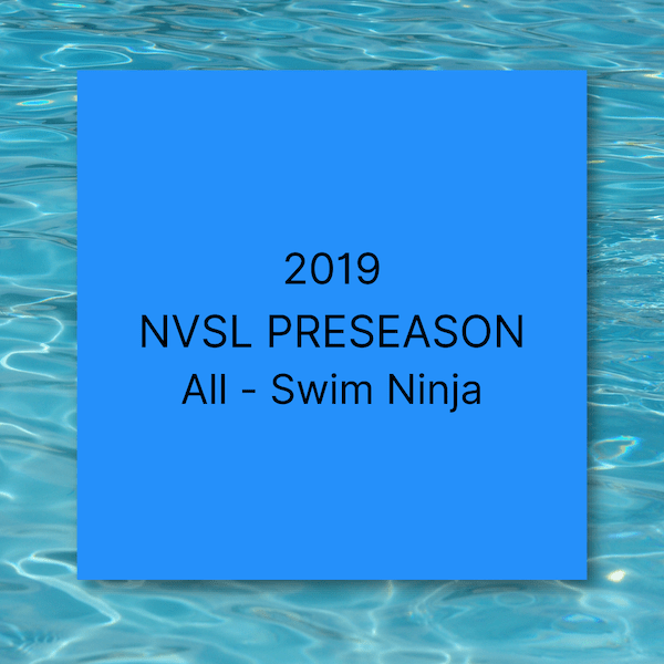 2019 NVSL Preseason All Swim Ninja: 11-12s