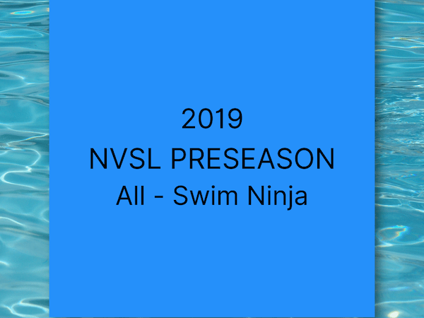 2019 NVSL Preseason All Swim Ninja: 13-14s