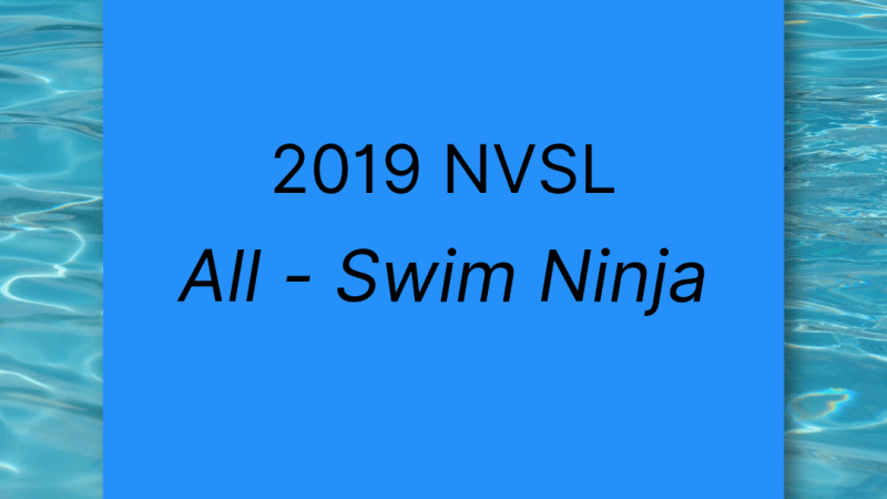 2019 NVSL All Swim Ninja: 8-Unders