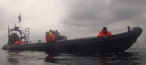 Crew og følgebåd