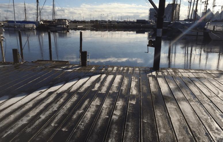 Århus træbådshavn i februar 2016