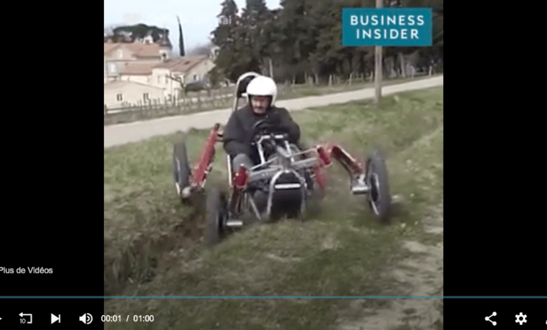 It's nearly impossible to flip over in this spider-like vehicle