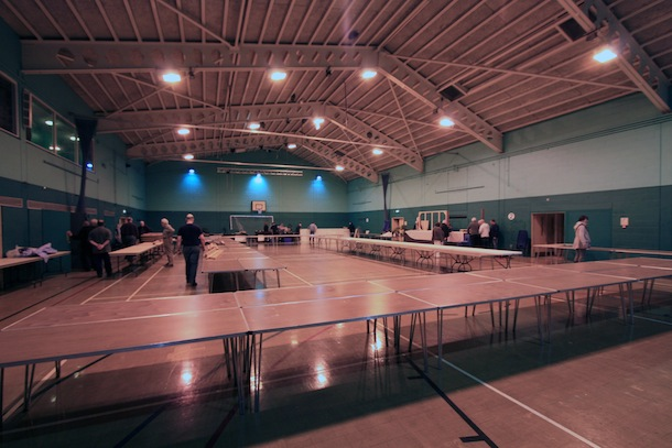 Show set up on Saturday 18th February 2012