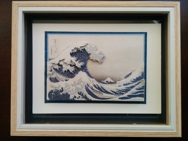 "Tactile greeting card based on Hokusai's ""The Great Wave""on Hokusai"