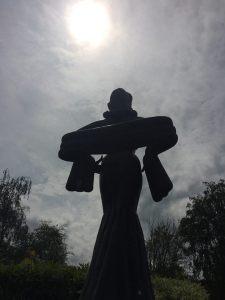 Diana Dors silhouette - sculpture diana dors