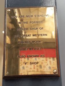 brass plaque v shop swindon outlet centre