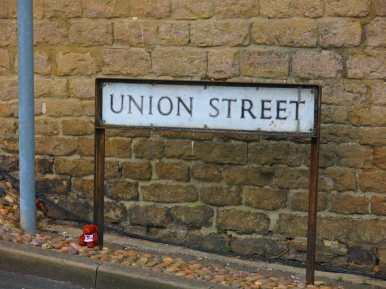 Street sign - Union St Swindon