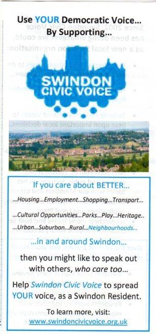 Swindon Civic voice leaflet