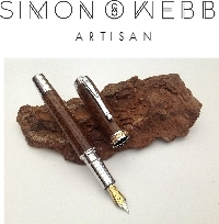 bark with pens on it - simon webb artisan pens