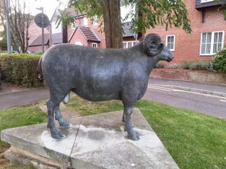 Ram sculpture side view