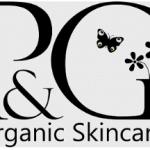 Pink and green organic skincare logo