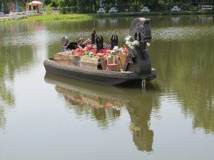 Boat funeral - dying matters awareness week