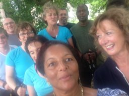 Discovering Swindon - group of Nordic walkers