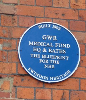 Health Hydro plaque - one of the blue plaques in swindon