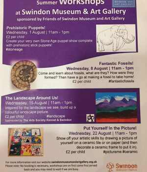Summer workshops at museum and art gallery
