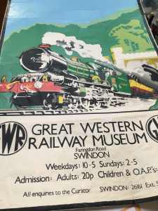 Poster for old GWR Railway museum