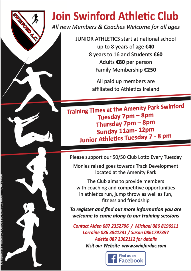 Join Swinford Athletic Club