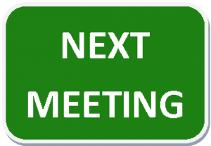 Next Meeting Wednesday 17th May