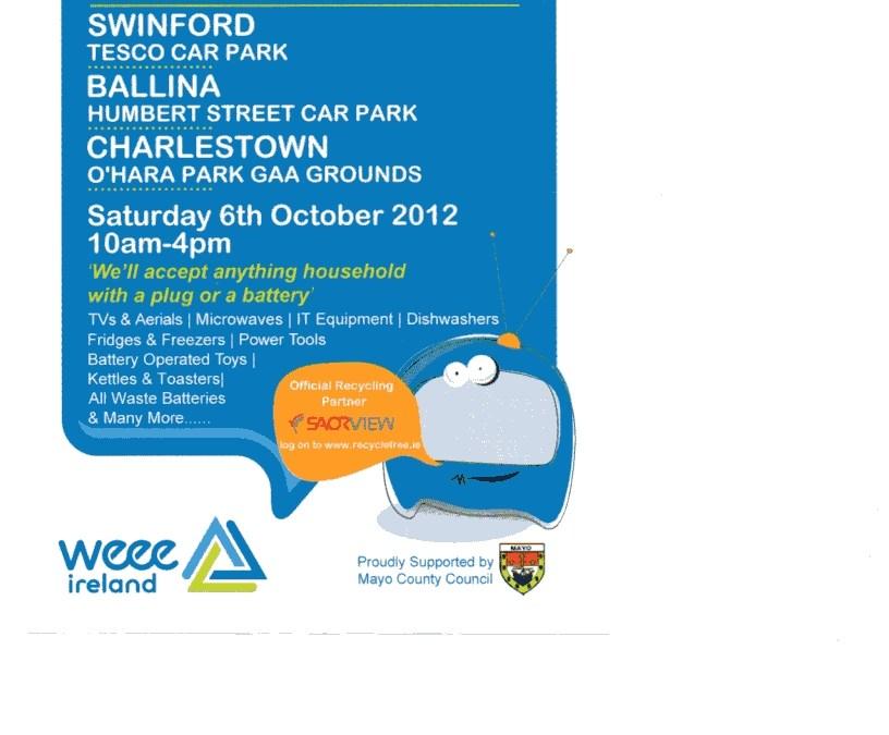 WEEE Recycling Day Tesco Swinford