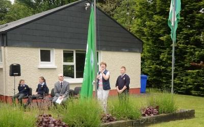 Scoil Muire agus Treasa Raises 5th Green Flag